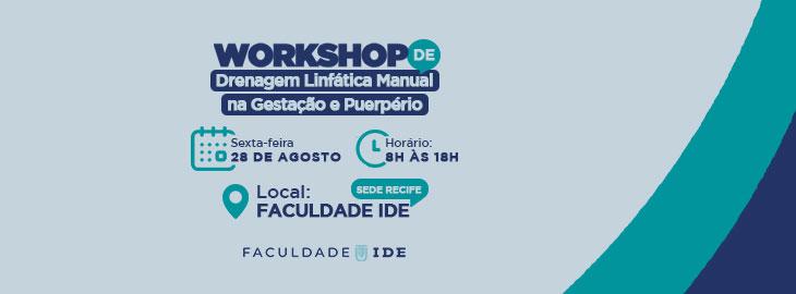 Workshop - Drenagem Linfática Manual na Gestação e Puerpério